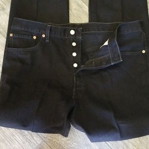 Levi's black 501 38 x 34 straight leg